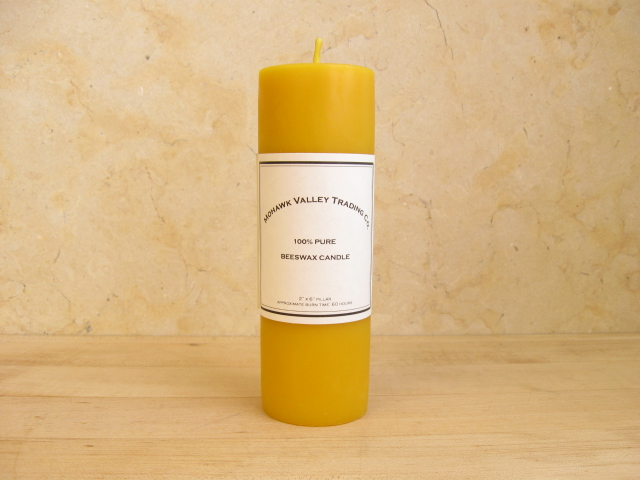 "100% Pure Beeswax Pillar Candle - 2"" X 6"""